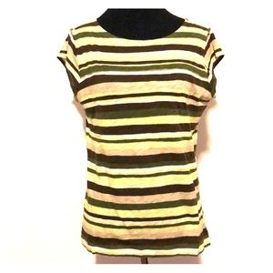 Talbots Striped Cap Sleeve Tee